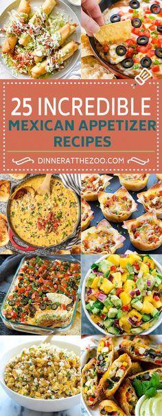 25 Mexican Appetizer Recipes Mexican Food Recipes Appetizers Appetizer Recipes Mexican Appetizers