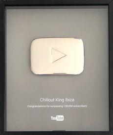 Dj Maretimo Chillout King Ibiza Youtube Award Play Button Silver For 100 000 Subscriber Play Button Youtube Diy Buttons
