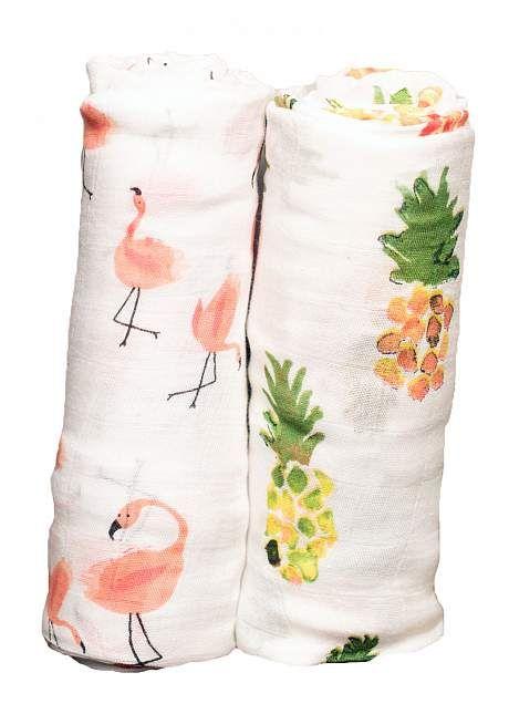 Swaddling & Sleep Sacks Little Unicorn Bamboo Muslin Swaddle 2 Pack in Pink Ladies (style UB0405) | Magic Beans
