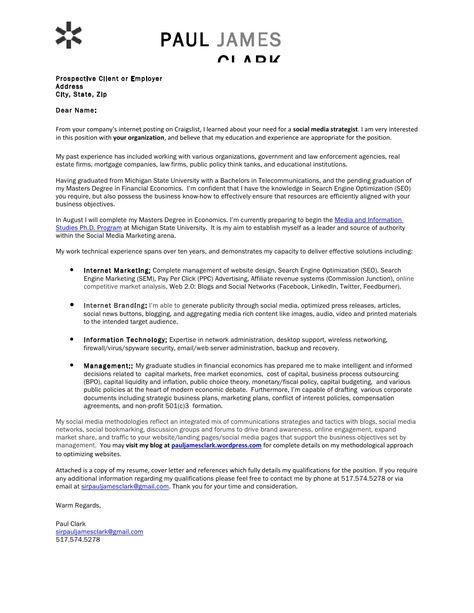 paul-clark-social-media-cover-letter by Paul Clark via Slideshare - cover letter for law enforcement