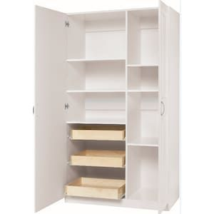 Estate By Rsi 38 5 In W Wood Composite Freestanding Utility Storage Cabinet At Lowes Com With Images Utility Storage Cabinet Utility Storage Storage Cabinet