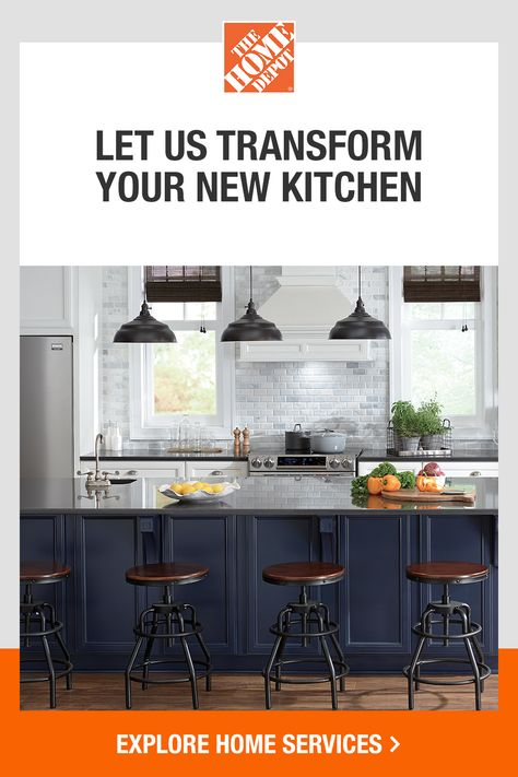 From the kitchen to the bathroom, we have the Home Services you need to design your dream home and bring it to life. Tap to explore more ways we can help with your new space at The Home Depot. For licenses, visit homedepot.com/licensenumbers.
