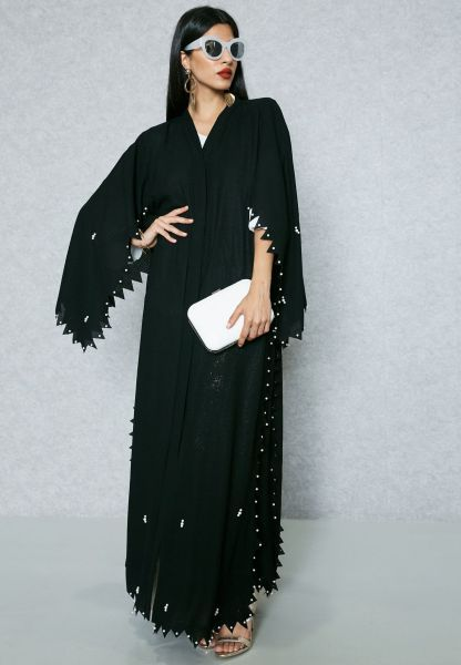تألقي عبايات خليجيه في عيد و صيف 2017 2018 ازياء ازياء محجبات عبايات Hijab Fashion Abayas Abayat E Modest Evening Dress Abaya Fashion Modern Abaya