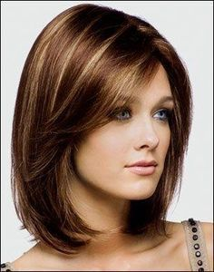 Medium Hair Styles For Women Over 40 | Long bob with highlights ...