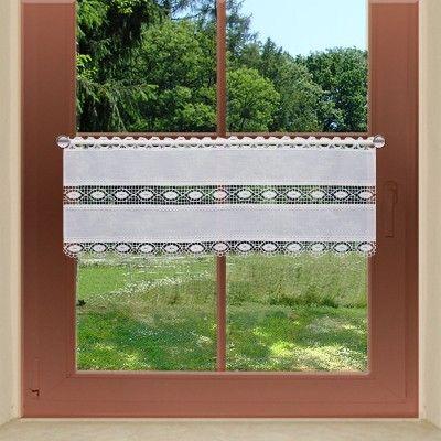 Feenhausgardine Helene Mit Mittelspitze Am Fenster Plauener Spitze Gardinen Feenhaus