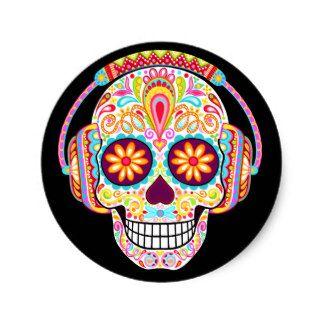 Aufkleber Sugar Skull 42-12 cm Dia de los muertos Day of the Dead Sticker
