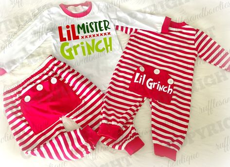 e853bbe3a47f EXCLUSIVE    Boys Red and White Little Mr. Grinch Holiday Pyjamas ...