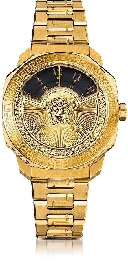 6bb5ee1e4a Check out this amazing Versace Dylos Icon Gold IP Stainless Steel ...