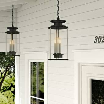 Wyckoff Blackened Oil Rubbed Bronze 1 Bulb 15 H Plug In Outdoor Pendant In 2020 Outdoor Hanging Lights Outdoor Hanging Lanterns Outdoor Wall Lantern