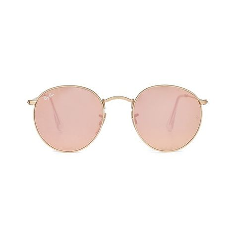 RAY-BAN Sonnenbrille RB3447 Round Metal Flash