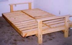 Plans To Build Futon Bed Frame Pdf A Normal Uses Quadrangle Of Rails Support The Mattress N