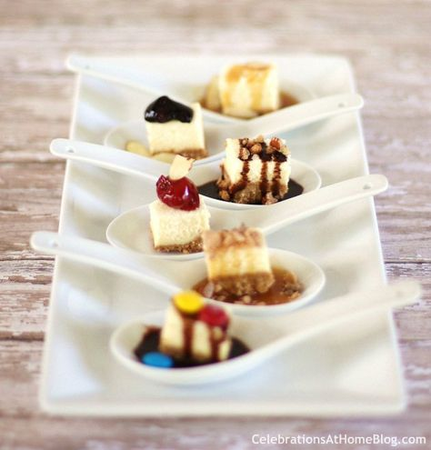 Serve Cheesecake Spoons For Individual Tastes