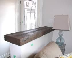 Image Result For Half Wall With Wood Cap Wood Mantle Reclaimed Wood Mantle Half Walls