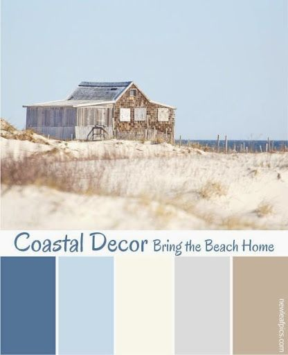 Coastal Seaside Color Schemes Paint Color Ideas Beach House