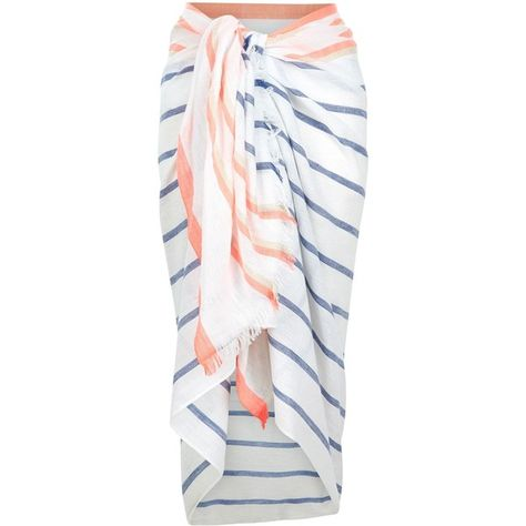 39d6233ab51ae Accessorize Beach stripe sarong ($25) ❤ liked on Polyvore featuring  swimwear, cover-ups, beach swimwear, beach sarong cover ups, striped  swimwear, beach ...
