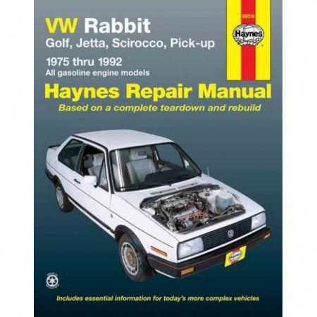 Vw Rabbit Jetta Scirocco And Pickup 1975 1992 All Volkswagen Rabbit Golf Jetta Scirocco And Pick Up Models With Repair Manuals Toyota Corolla Vw Rabbit
