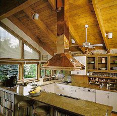 Make An Island Range Hood Vented Through Vaulted Ceiling   Google Search