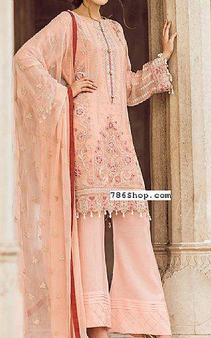 bb1fc95d422 Light Peach Chiffon Suit | Buy Flossie Pakistani Dresses and ...