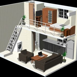 15 Best Studio Apartment Layout That Really Work Futurian In 2020 Loft House Studio Apartment Layout Tiny House Design