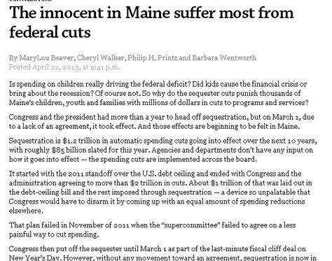 Bangor Daily News Online 5-22-13 The innocent in ME suffer most - victim statement