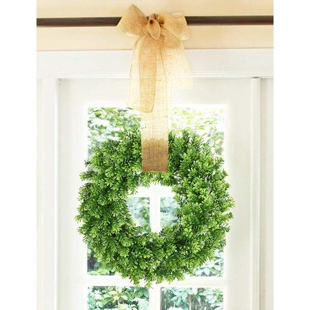 Party Occasions Artificial Boxwood Wreath Green Wreath Spring Wreath