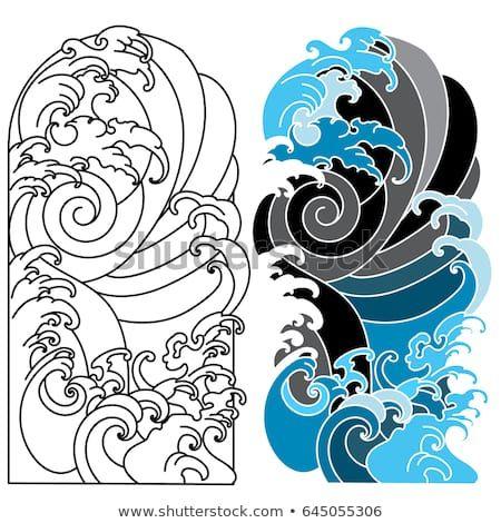 Japanese Wave Tattoo Vector Url Https Tattooartst Blogspot Com 2016 10 Japanese Wave Tattoo Vector Ht Tattoo Background Japanese Wave Tattoos Waves Tattoo