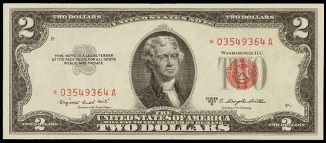 Old $2.00 Bill Collection 1953 1963 3 /& 1976 Note Paper Money Collection