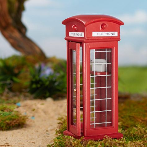 DOLL HOUSE MINIATURE RED PHONE BOOTH