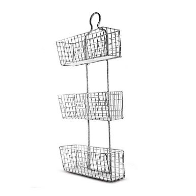 3 Tier Wire Hanging Storage Baskets Wire Baskets Wire Basket Storage Basket Wall Art