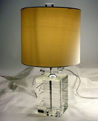 Ebay Sponsored Fabulous Modern Heavy Clear Glass Block Electric