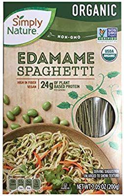 Simply Nature Organic Edamame Spaghetti Gluten Free Vegan Pack Of