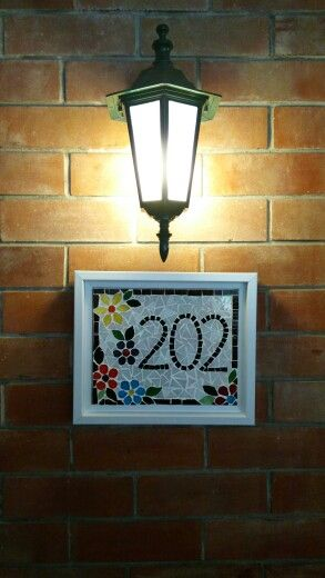 Mosaic Home Name Plate Creation At Barish In 2019 Name Plates