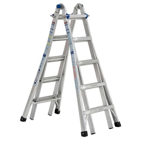 Werner Mtiaa Aluminum 22 Ft Reach Type 1aa 375 Lbs Capacity Telescoping Multi Position Ladder Multi Ladder Aluminium Ladder Ladder