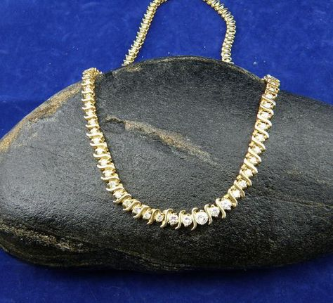 Luxurious 5.00cttw Round Diamond Graduated Necklace-14K Gold, SKU N-1125