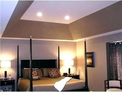 Master Bedroom Tray Ceiling Paint Ideas Angled Painting Colors
