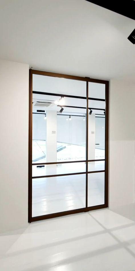 Crittall style bronze pivot door