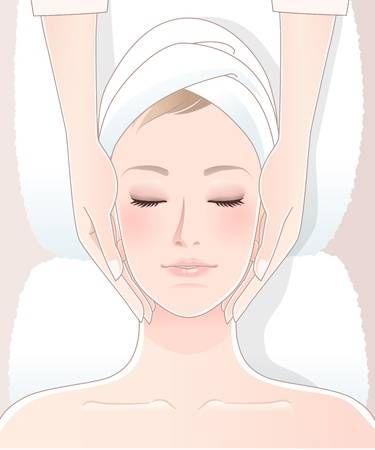 Stock Vector Massagem Facial Spa Facial Massagem Spa
