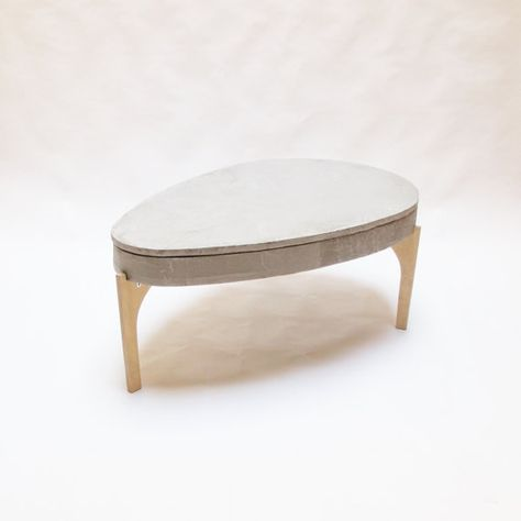 Concrete Lift Top Coffee Table Concrete Table Top Industrial Table Side Table  Oval Coffe Table Concrete Oval Coffee Table Lift Mechanism | Pinterest ...