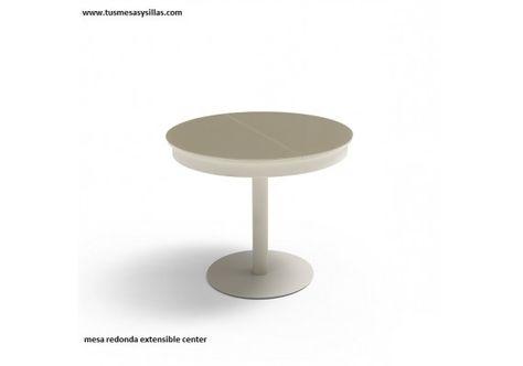 mesas redondas extensibles Center pie central 90 | Mesa ...