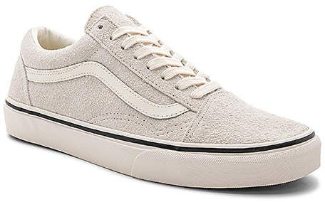 Vans Old Skool Fuzzy Suede In Light Gray Raw Suede Upper With Rubber Sole Lace Up Front Affiliate Vans