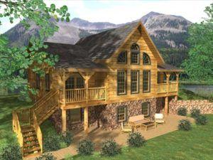 Medium Size Cabins Up To 2000 Sq Ft Honest Abe Log Homes Cabins In 2020 Log Cabin Plans Log Homes Log Home Floor Plans