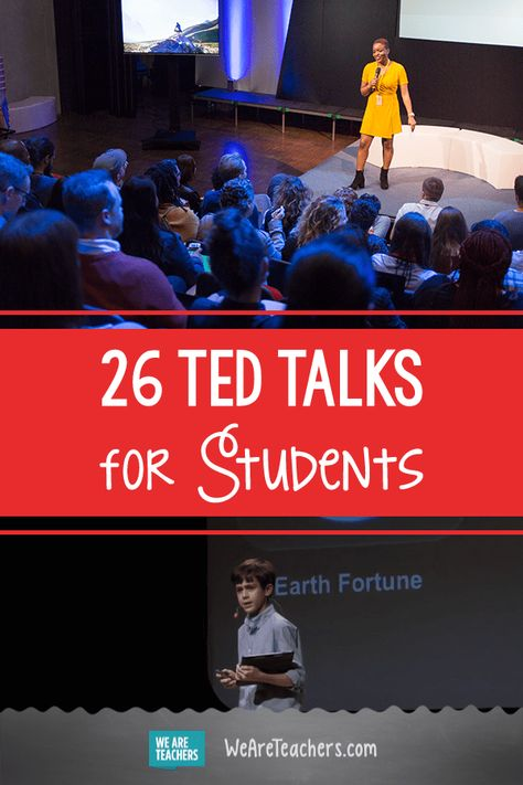 Must-Watch TED Talks to Spark Student Discussions 26 Must-Watch TED Talks to Spark Student Discussions. We curated the TED talks students will love! Use this playlist to engage students in meaningful conversations and spark inspiration! High School Counseling, Elementary School Counselor, Elementary Schools, Homeschool High School, Career Counseling, High Schools, Ted Talks For Kids, Ted Talks For Teachers, Ted Speakers