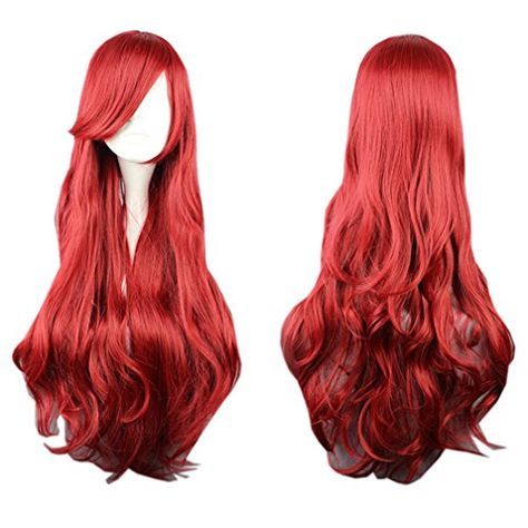 New The Little Mermaid Wig Princess Ariel Red Wig Anime Cosplay Role Play Wig Hair Decoration with hair net Ariel Cosplay, Cosplay Hair, Disney Cosplay, Cosplay Wigs, Anime Wigs, Anime Hair, Mermaid Wig, Kawaii Wigs, Red Wigs