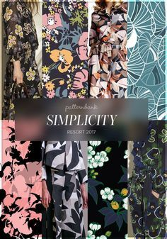 Simplicity » Tory Burch / Graphic Floral by Manukian Ashram / Brooks Brothers / Leaves by Vivienn Kristof / Flora by Angelina / Josie Natori / Flower Bunch with Dark Background by Joseph Engulf / Tory Burch