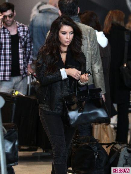Kim Kardashian Wears Head-to-Toe Black in Paris