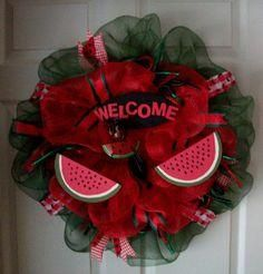 watermelon mesh wreath - Google