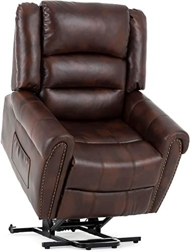 The Mecor Lift Chairs Recliners Lift Chair Elderly Reclining Lift Chairs Dual Motor Pu Leather Sleeper Recliner Chair Massage Heat Vibration Remote Control In 2020 Lift Chair Recliners Recliner Chair Remote Control Living Room