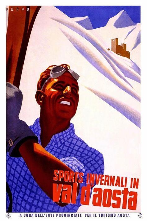 Original vintage poster VAL D/'AOSTA PEROULA FARM GIRL 1949