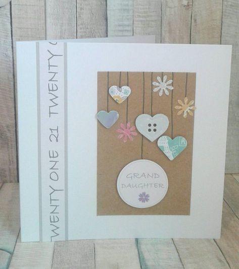 Granddaughter 21st Birthday Card Granddaughter 21st Card For 21st