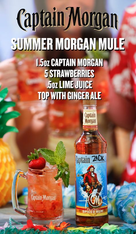 The Morgan Mule is mixing up something fresh this summer–and trust us, it's be...  #bestmixeddrinks #fresh #Mixing #Morgan #Mule #summerand #trust